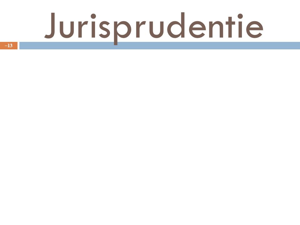 Jurisprudentie – 13