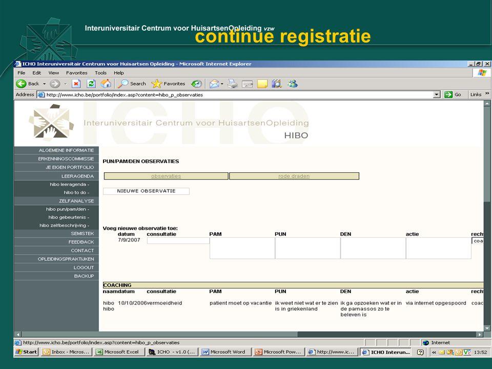 continue registratie