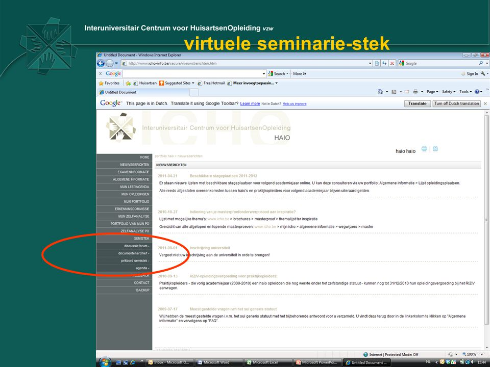 virtuele seminarie-stek