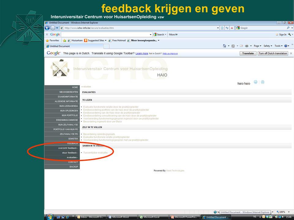 feedback krijgen en geven