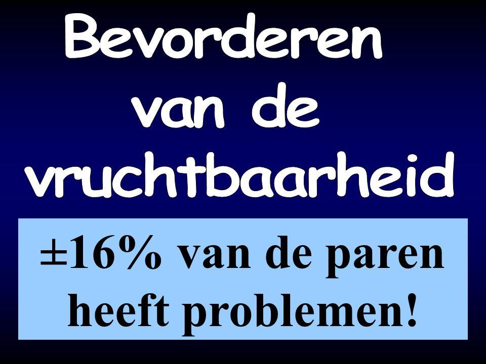 ±16% van de paren heeft problemen!
