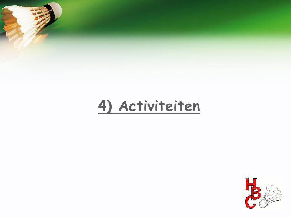 4) Activiteiten