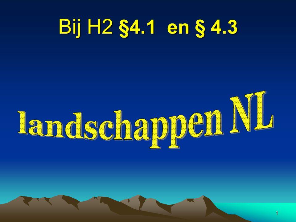 2 ontstaan Nederlandse landschap •Het Nederlandse landschap bestaat pas 2,5 miljoen jaar.