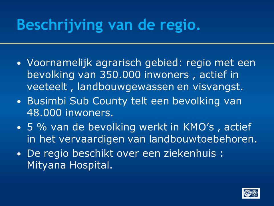 Beschrijving van de regio.