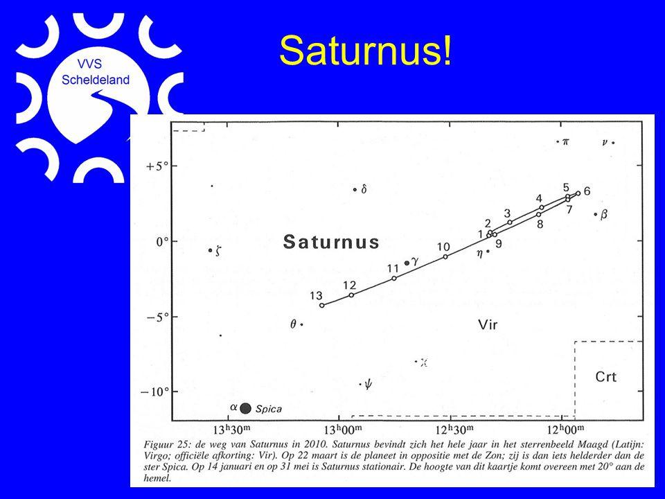 •Dinsdag 2 maart De Maan staat op een 8 tal graden van Saturnus.