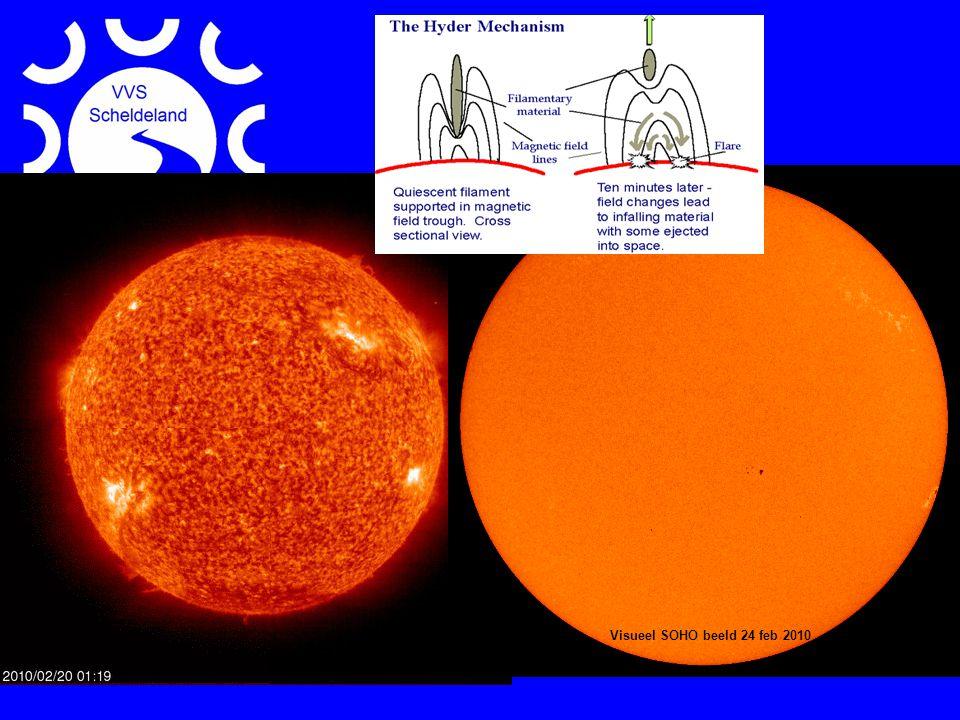Zon actueel Visueel SOHO beeld 24 feb 2010