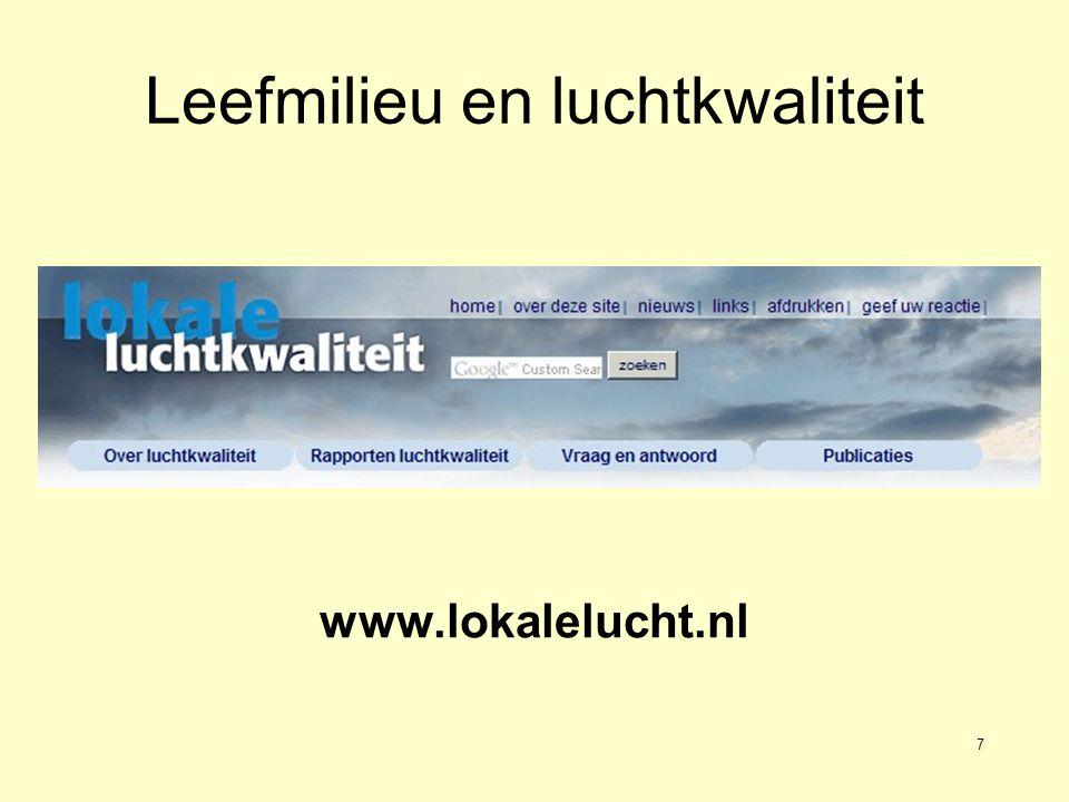 7 Leefmilieu en luchtkwaliteit www.lokalelucht.nl