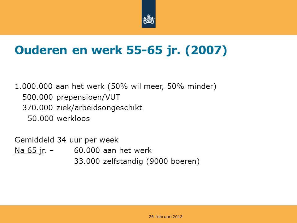 Ouderen en werk 55-65 jr.