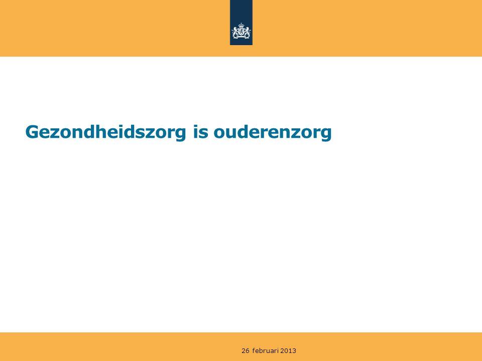 Gezondheidszorg is ouderenzorg 26 februari 2013