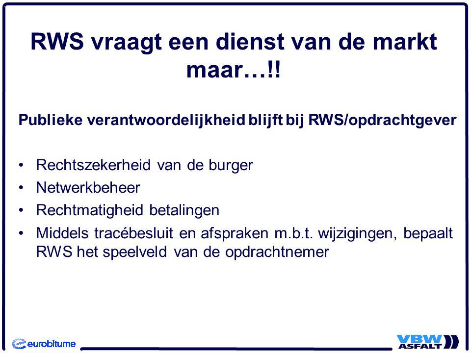 RWS vraagt een dienst van de markt maar…!.
