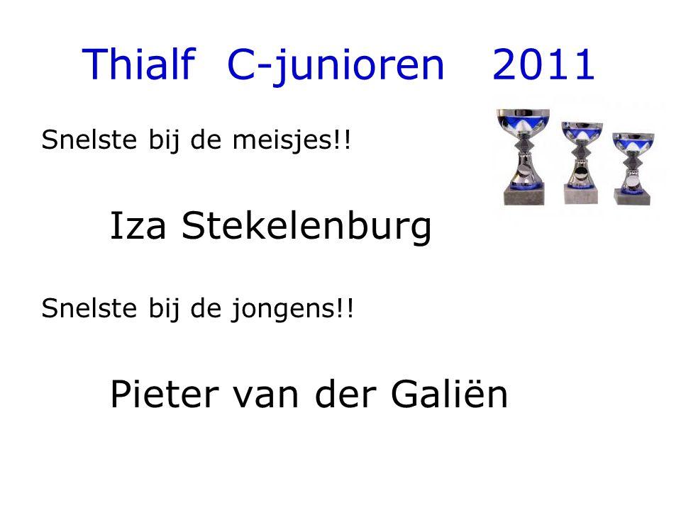 Thialf C-junioren 2011 Snelste bij de meisjes!. Iza Stekelenburg Snelste bij de jongens!.