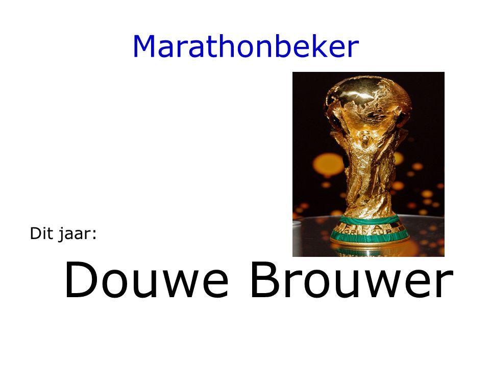 Marathonbeker Dit jaar: Douwe Brouwer