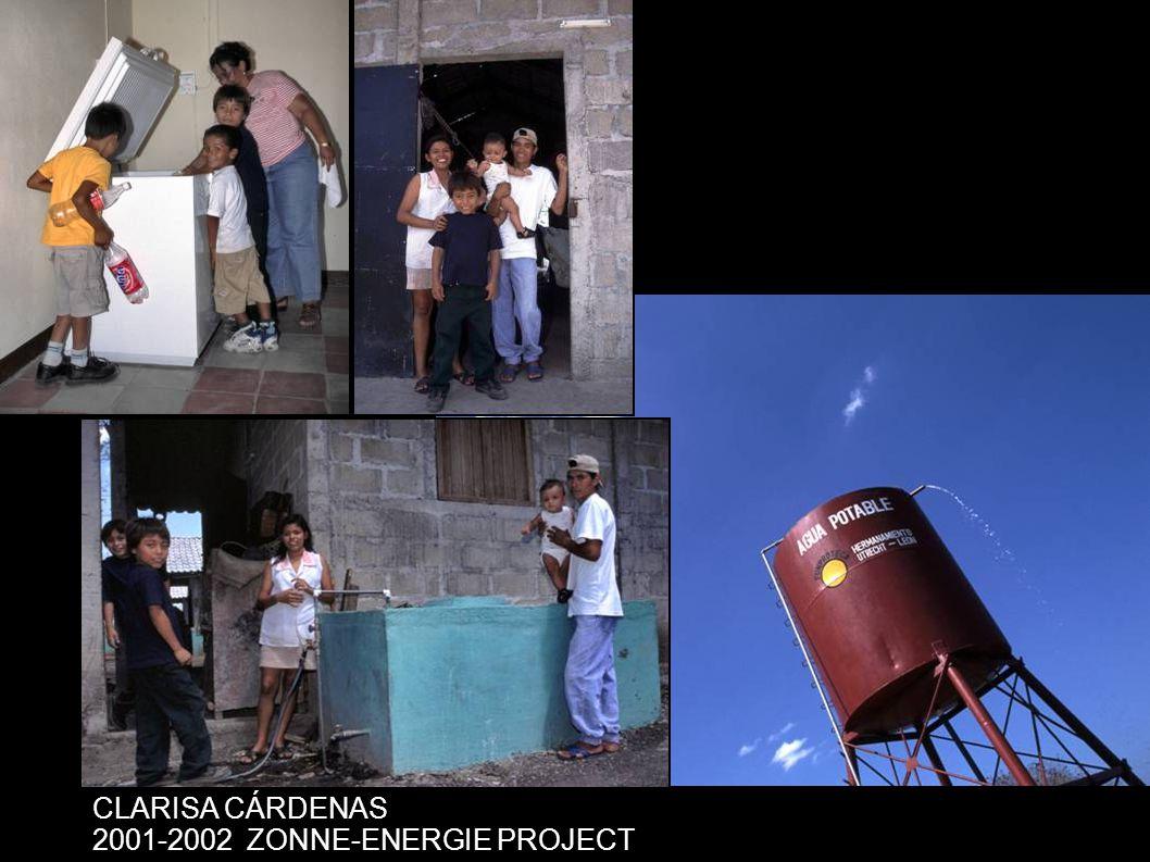 CLARISA CÁRDENAS 2001-2002ZONNE-ENERGIE PROJECT
