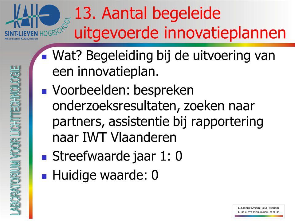  Wat. Begeleiding bij de uitvoering van een innovatieplan.