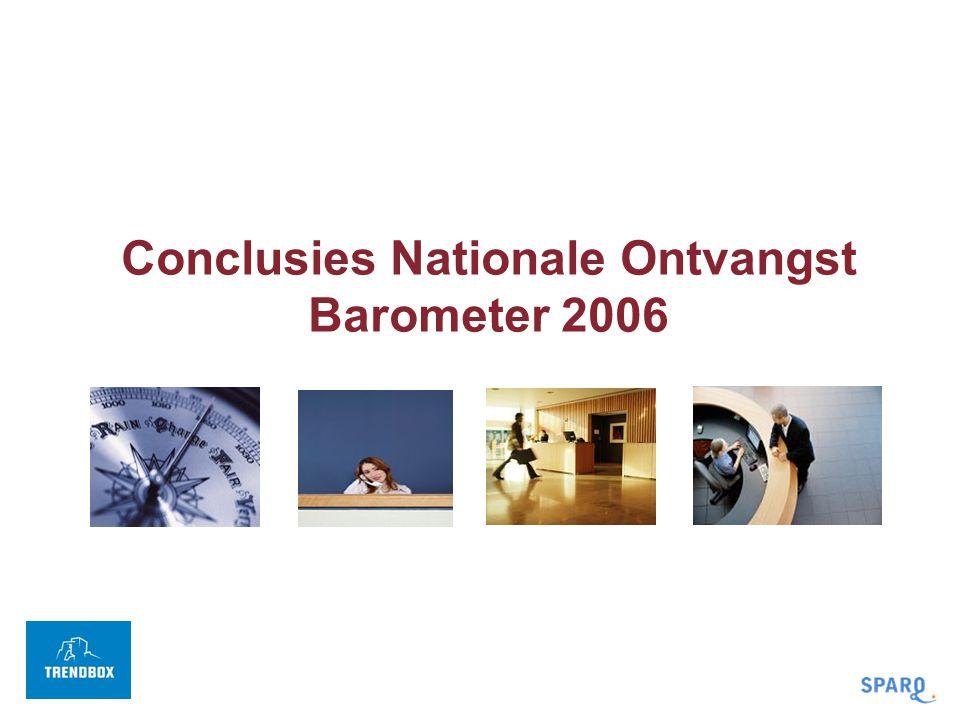 Conclusies Nationale Ontvangst Barometer 2006