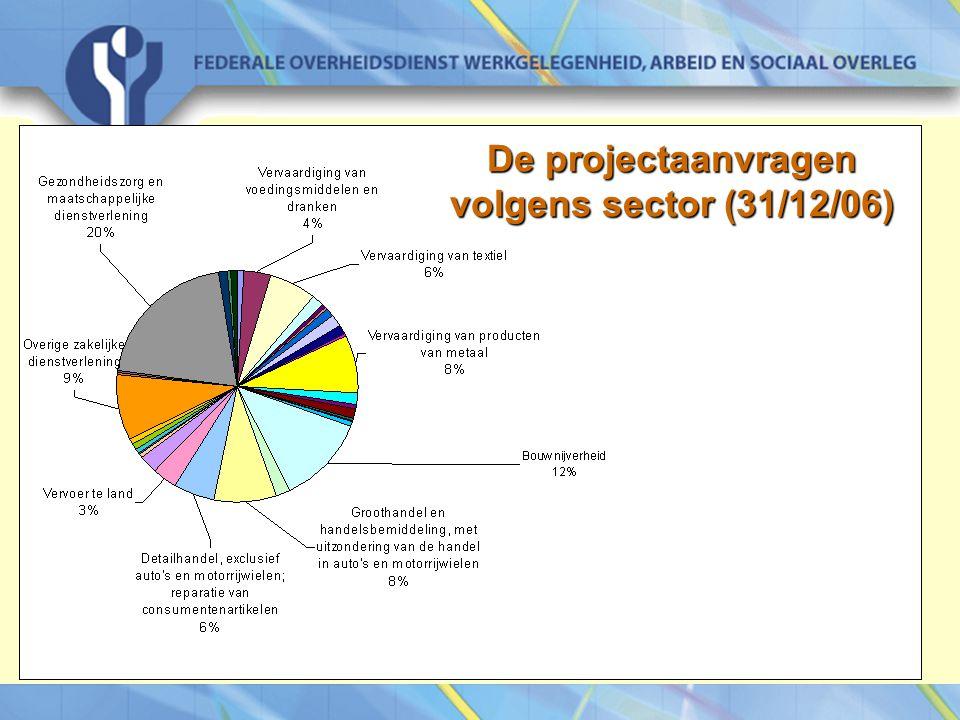 29 mei 07Intergenerationele relaties op de werkvloer, Koning Boudewijnstichting De projectaanvragen volgens sector (31/12/06)
