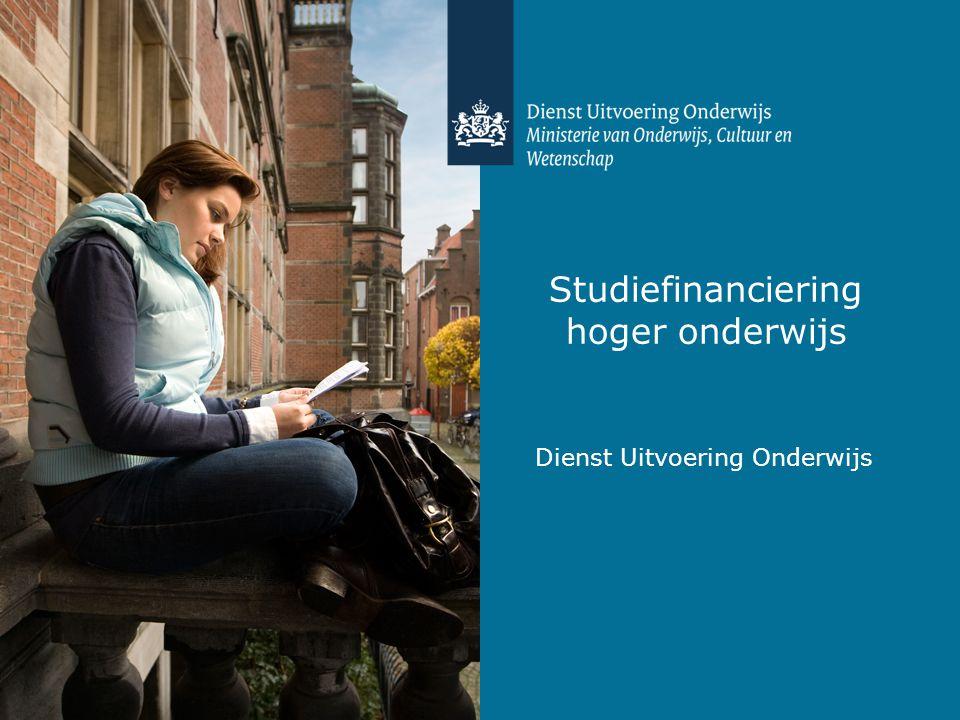 Studiefinanciering hoger onderwijs Dienst Uitvoering Onderwijs