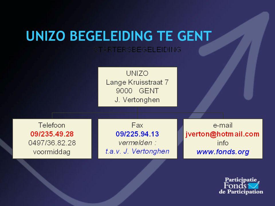Uw begeleiding via Unizo COMBINATIES MET STARTEO / B.A.N.