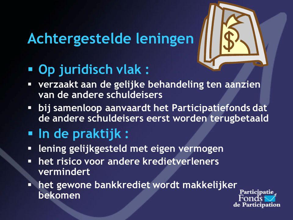 Lening Participatiefonds: PRINCIPE