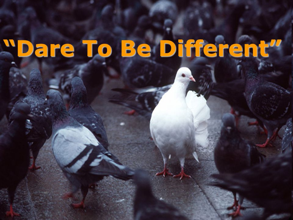Dare To Be Different……BeYourself