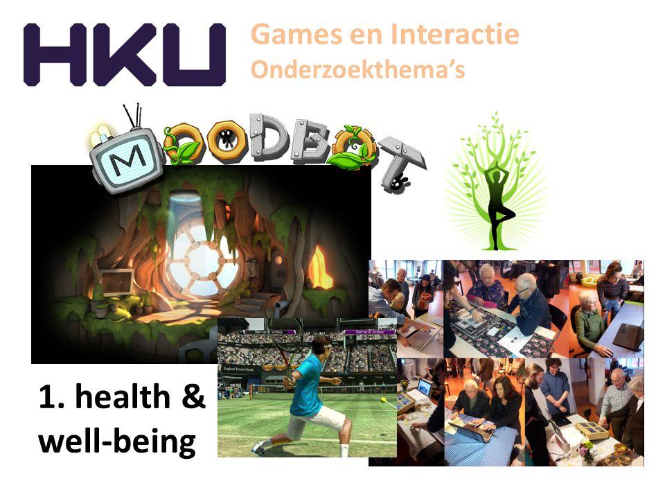 Games en Interactie Onderzoekthema's 2. Innovative entertainment
