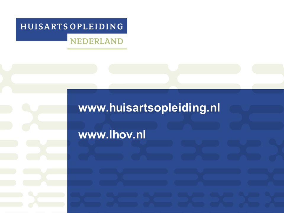 www.huisartsopleiding.nl www.lhov.nl