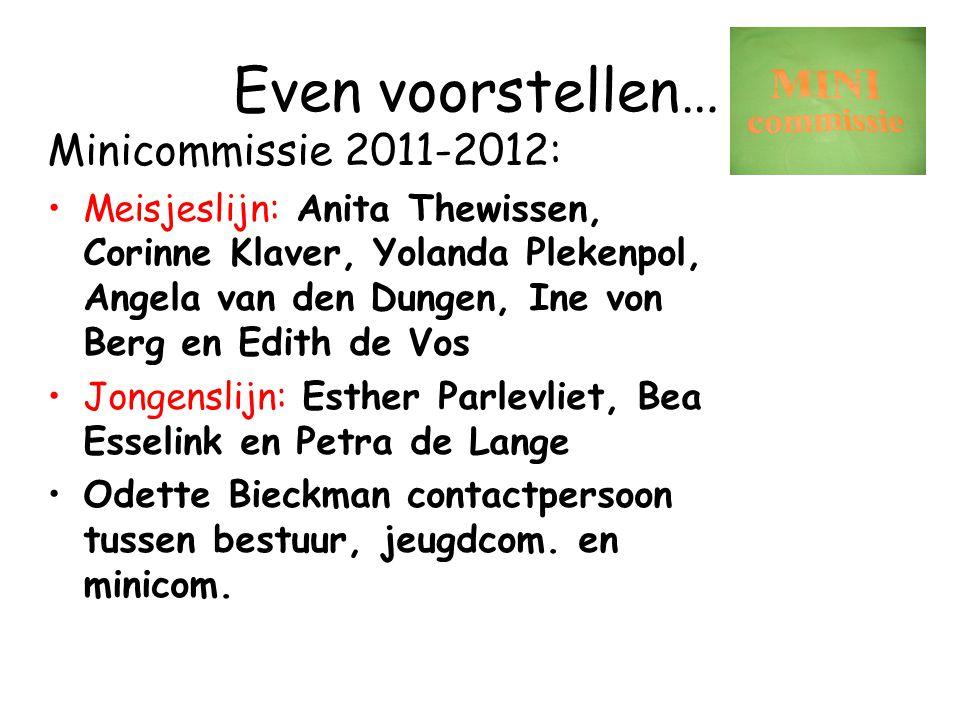 Ouderavond trainingsmini's naar competitie Maandag 29 augustus 2011 om 20.00 uur Hockeyclub Den Bosch