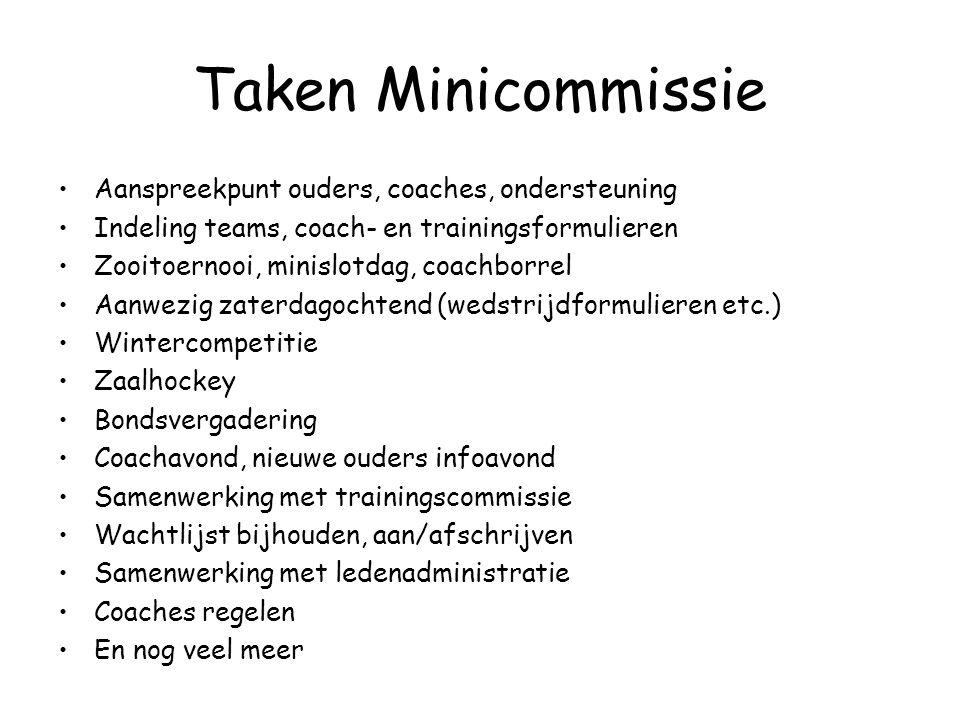 Miniteams Den Bosch •1 jaar training (6 jaar) •2 jaar E6 (7-8 jaar) •1 jaar E8 (9-10 jaar) •En vervolgens naar D-11-tallen (10-11 jaar) (Den Bosch hee
