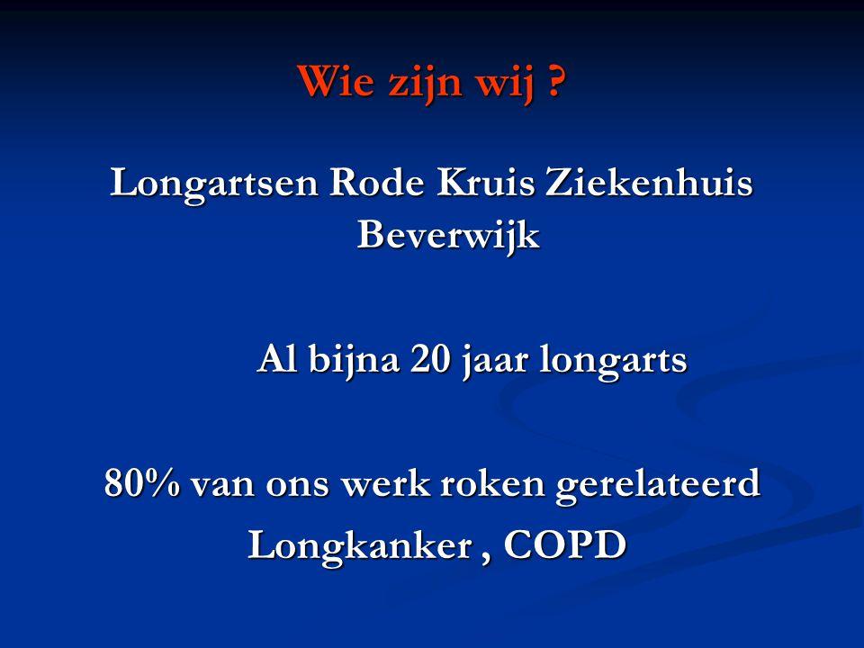 Wat krijg je ook alweer van roken • COPD • Longkanker • Pneumothorax • Longontsteking • Hartinfarcten • Perifeer vaatlijden • Mond/keelkanker • Blaaskanker • CVA