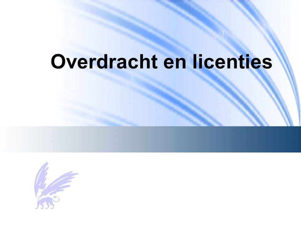 Overdracht en licenties