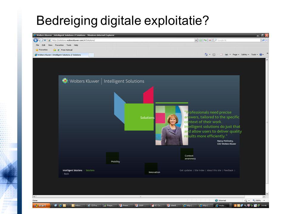 Bedreiging digitale exploitatie?