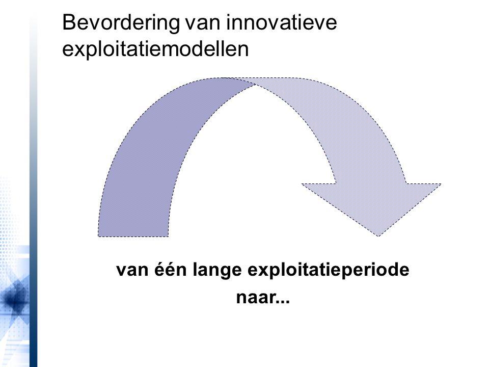 van één lange exploitatieperiode naar... Bevordering van innovatieve exploitatiemodellen