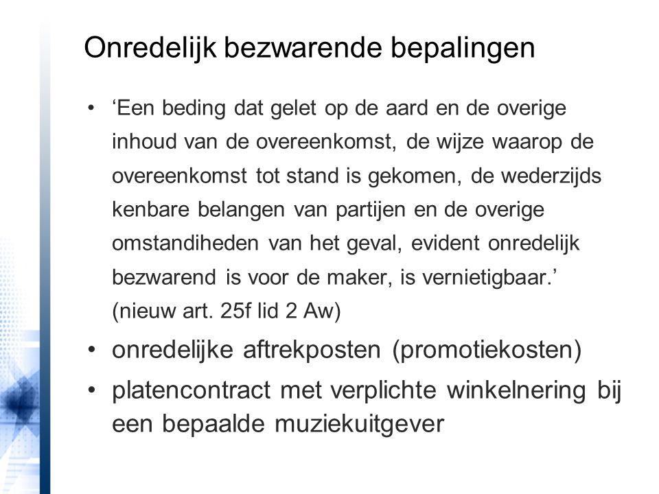 •afstand van opzeggingsrecht niet mogelijk (nieuw art.