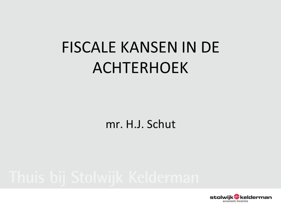 FISCALE KANSEN IN DE ACHTERHOEK mr. H.J. Schut