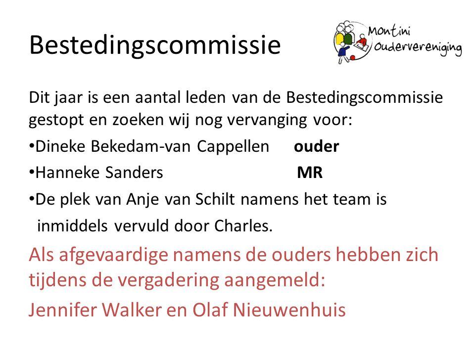 Bestedingscommissie Dit jaar is een aantal leden van de Bestedingscommissie gestopt en zoeken wij nog vervanging voor: • Dineke Bekedam-van Cappellen