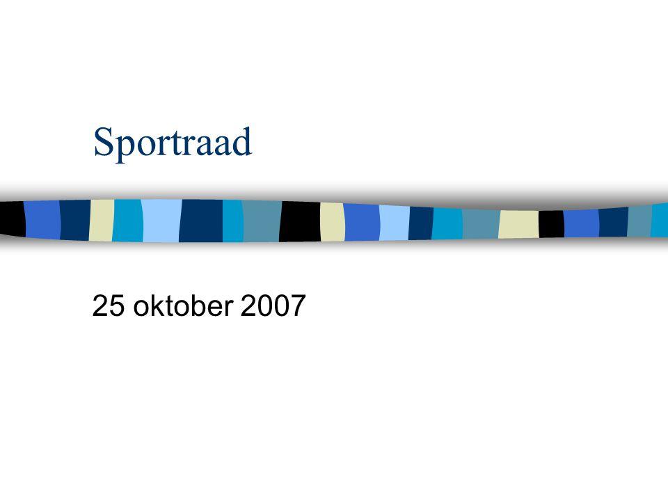 Sportraad 25 oktober 2007