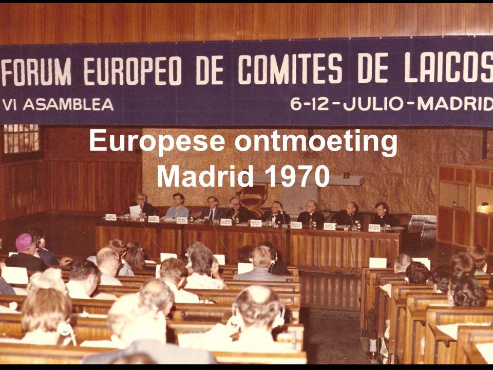 Europese ontmoeting Madrid 1970