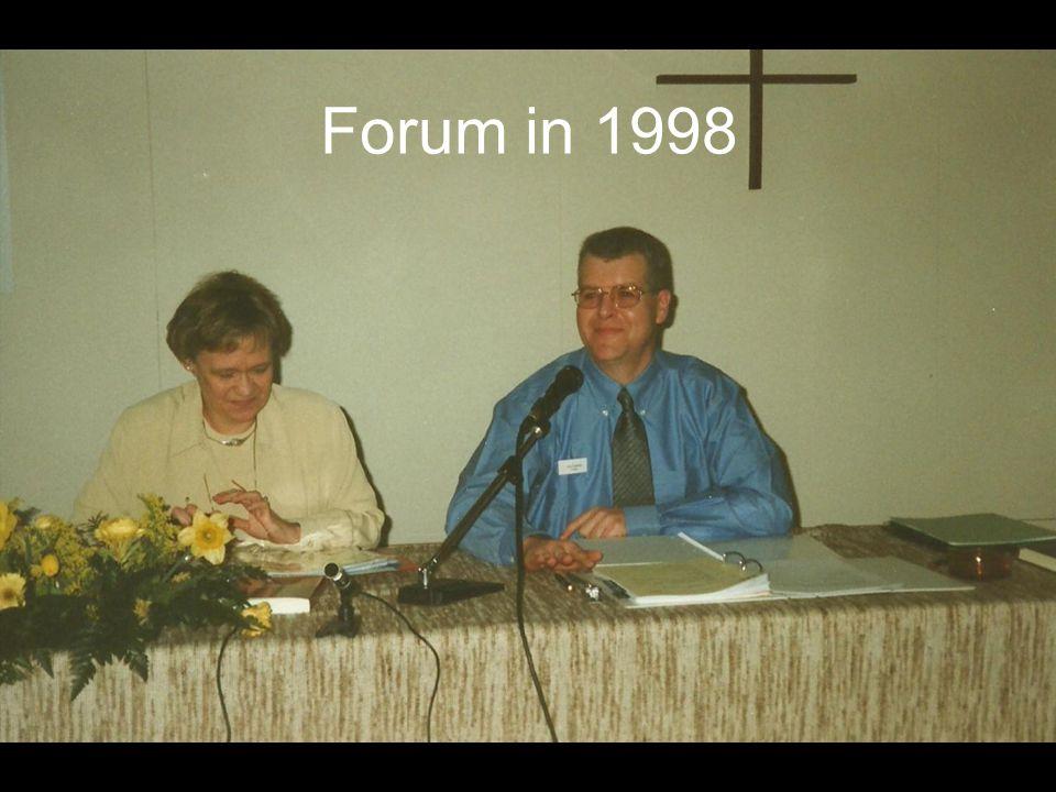 Forum in 1998