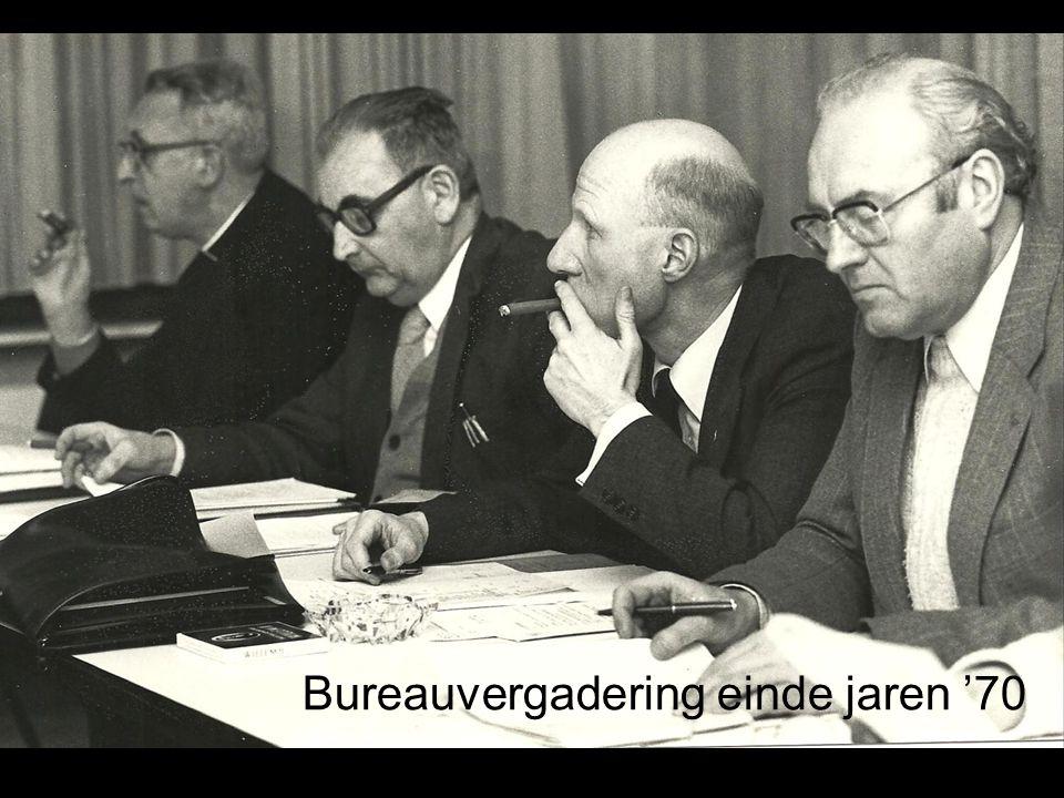 Bureauvergadering einde jaren '70