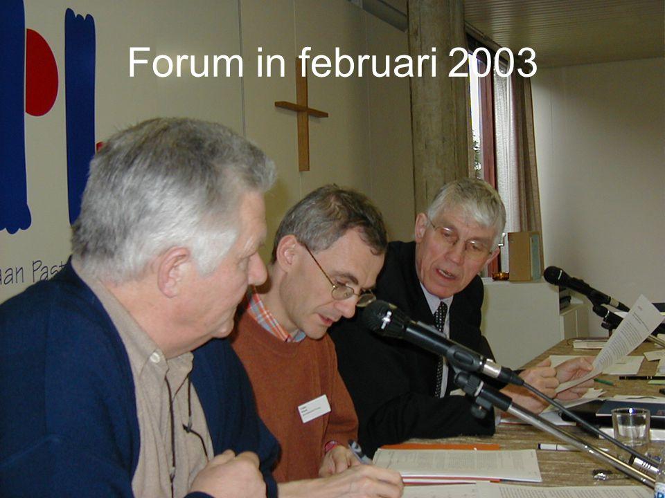 Forum in februari 2003