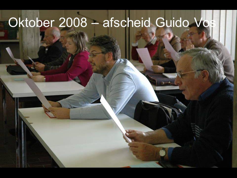 Oktober 2008 – afscheid Guido Vos