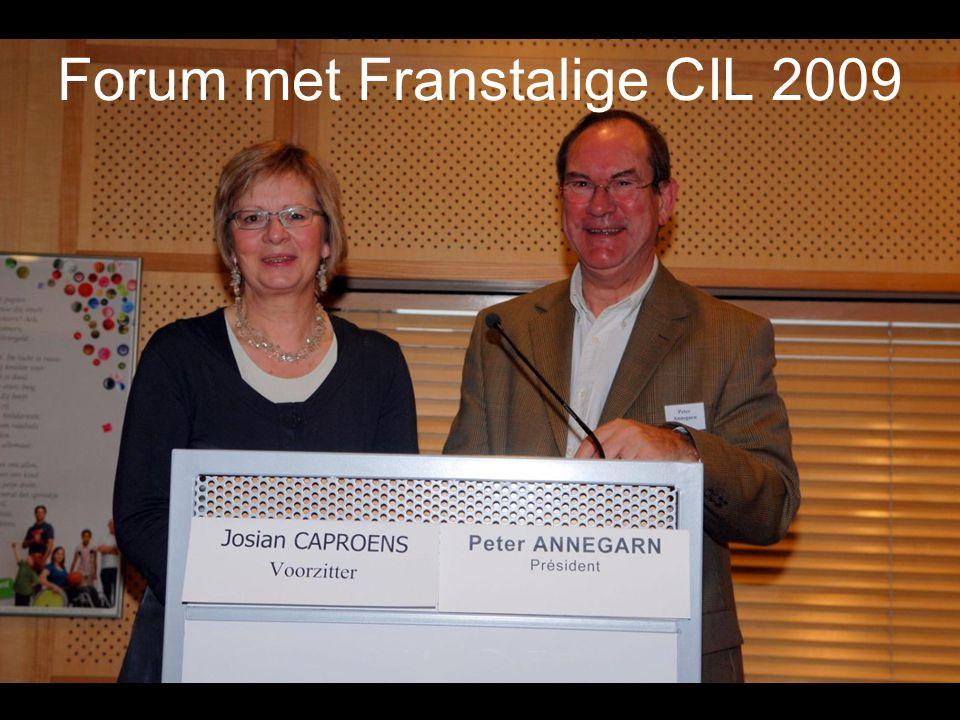 Forum met Franstalige CIL 2009