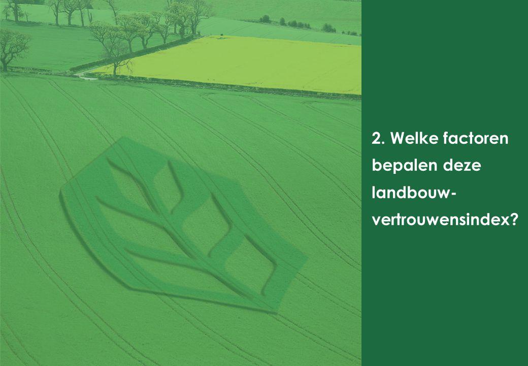 2. Welke factoren bepalen deze landbouw- vertrouwensindex