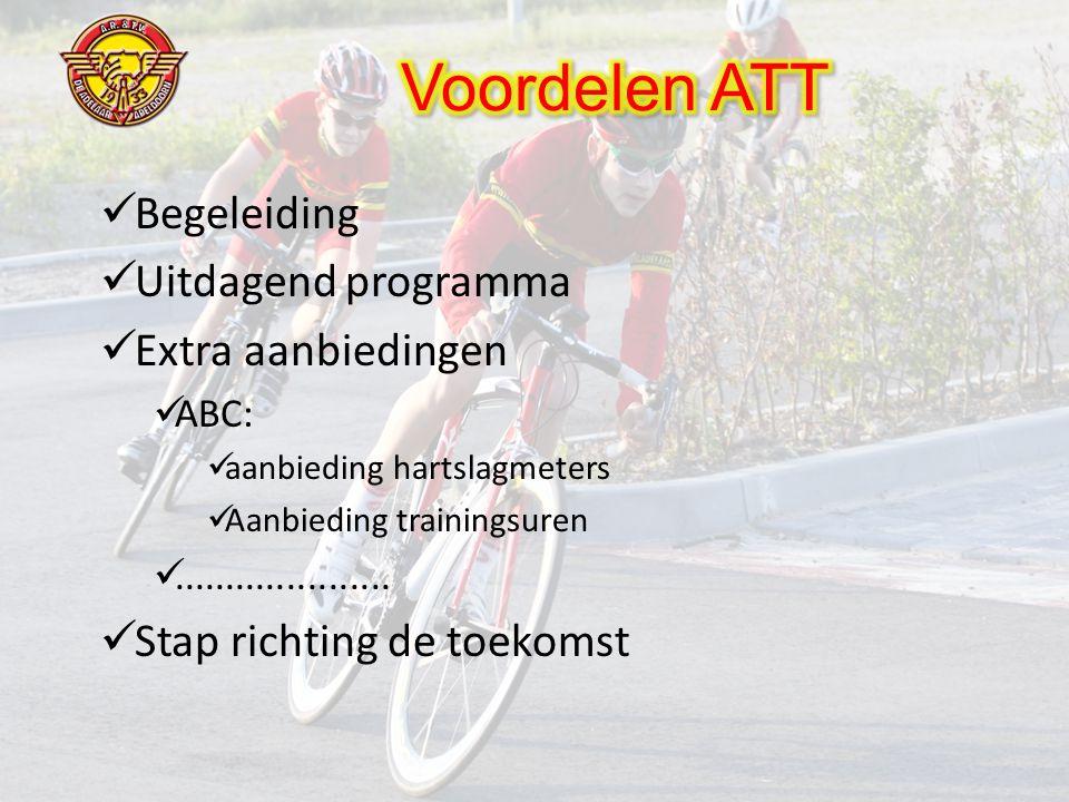  Begeleiding  Uitdagend programma  Extra aanbiedingen  ABC:  aanbieding hartslagmeters  Aanbieding trainingsuren .....................