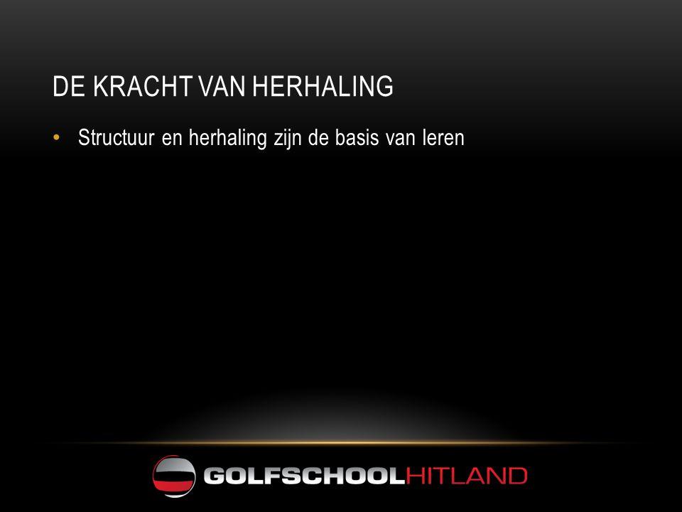 DE KRACHT VAN HERHALING • Structuur en herhaling zijn de basis van leren