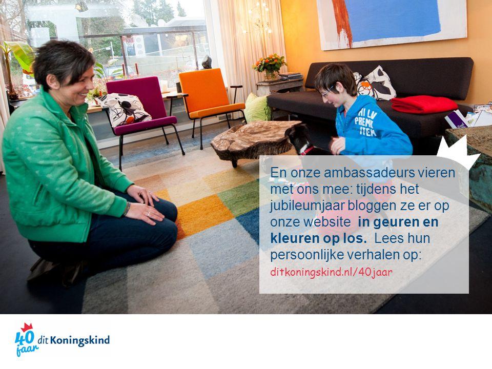 En onze ambassadeurs vieren met ons mee: tijdens het jubileumjaar bloggen ze er op onze website in geuren en kleuren op los. Lees hun persoonlijke ver
