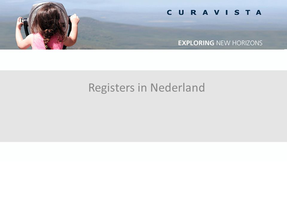 Registers in Nederland