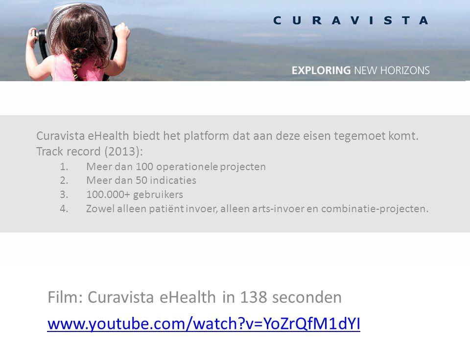 Curavista eHealth biedt het platform dat aan deze eisen tegemoet komt.