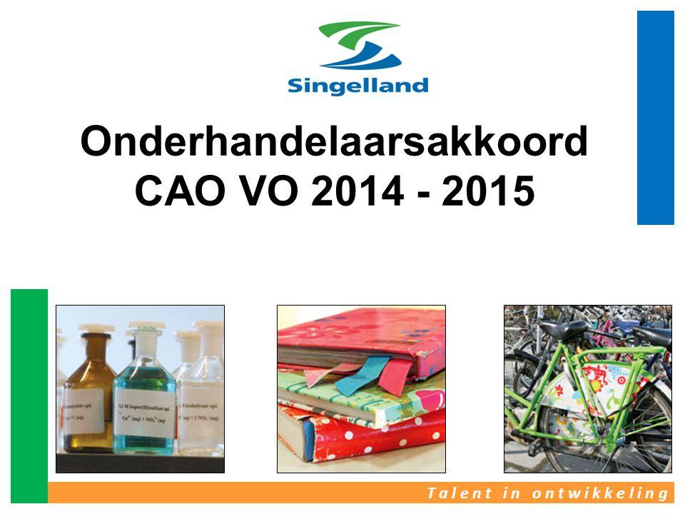 T a l e n t i n o n t w i k k e l i n g Onderhandelaarsakkoord CAO VO 2014 - 2015