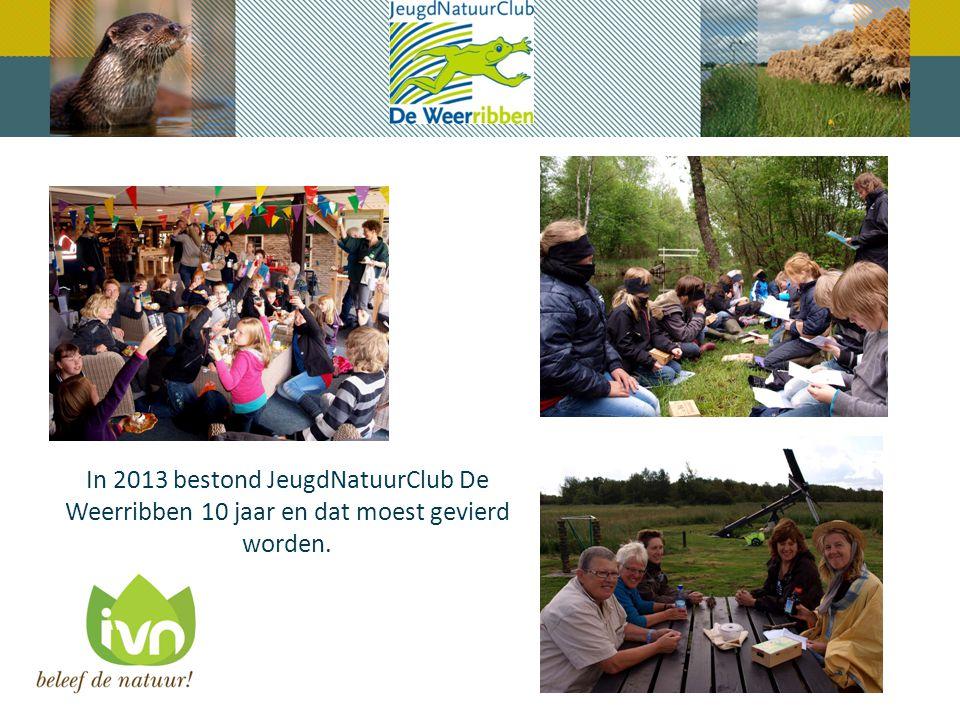 In 2013 bestond JeugdNatuurClub De Weerribben 10 jaar en dat moest gevierd worden.